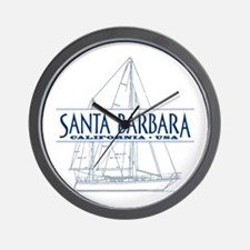 Santa Barbara - Wall Clock