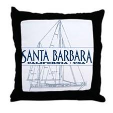 Santa Barbara - Throw Pillow