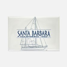 Santa Barbara - Rectangle Magnet