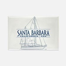 Santa Barbara - Rectangle Magnet (10 pack)