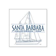 """Santa Barbara - Square Sticker 3"""" x 3"""""""
