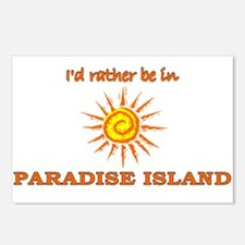 I'd Rather Be In Paradise Isl Postcards (Package o