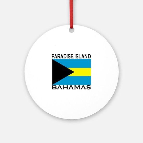 Paradise Island, Bahamas Flag Ornament (Round)