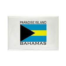 Paradise Island, Bahamas Flag Rectangle Magnet