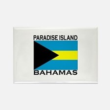 Paradise Island, Bahamas Flag Rectangle Magnet