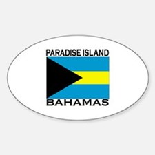 Paradise Island, Bahamas Flag Oval Decal