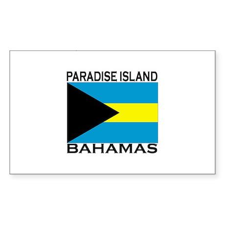 Paradise Island, Bahamas Flag Sticker (Rectangular