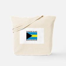 Paradise Island, Bahamas Flag Tote Bag