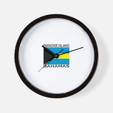 Paradise Island, Bahamas Flag Wall Clock