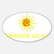 Paradise Island, Bahamas Oval Decal