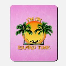 Island Time Pink Mousepad