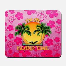Island Time Pink Honu Mousepad
