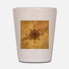 Vintage Compass Rose Shot Glass