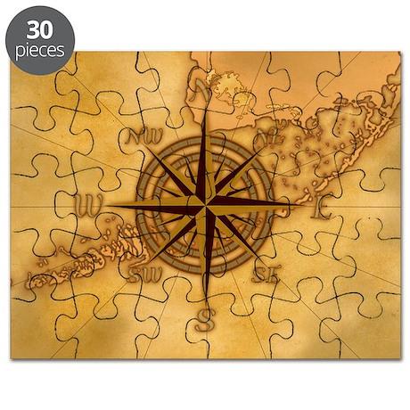 Vintage Compass Rose Puzzle