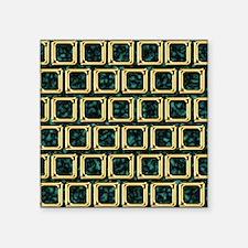 "Golden frames pattern Square Sticker 3"" x 3"""