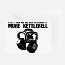 MORE KETTLEBELL BLACK Greeting Card