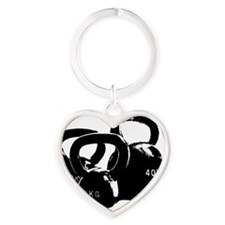 just kettlebell black Heart Keychain