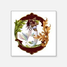 "Best Seller Merrow Mermaid Square Sticker 3"" x 3"""