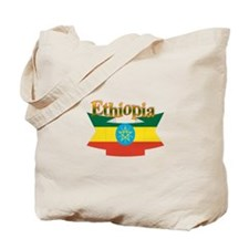 Ethiopian flag ribbon Tote Bag