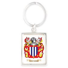 Contreras Coat of Arms Portrait Keychain