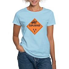 Orange Explosives Warning Si T-Shirt