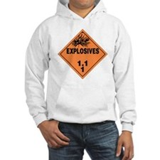 Orange Explosives Warning Sign Hoodie