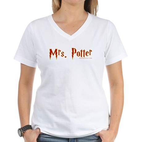 Mrs. Potter Women's V-Neck T-Shirt