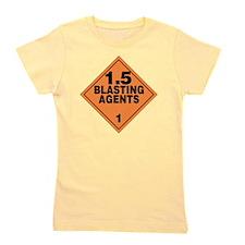 Blasting Agents Orange Warning Sign Girl's Tee