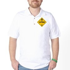Yellow Oxygen Warning Sign T-Shirt