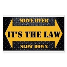 Move Over Safety Plate Decal