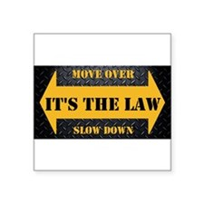 Move Over Safety Plate Sticker