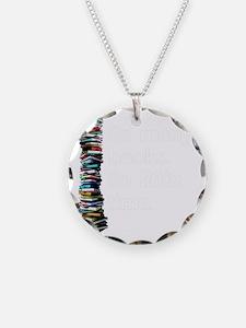 So Many Books Dark Backgroun Necklace