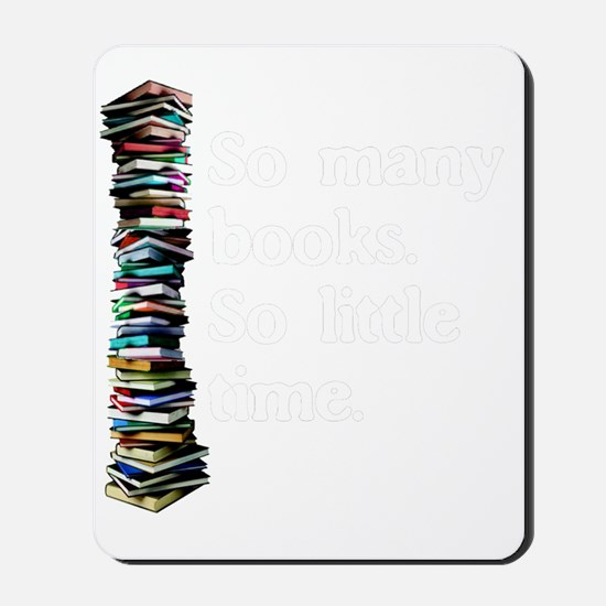 So Many Books Dark Background 2 Mousepad