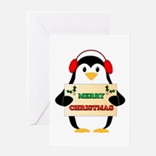 Merry Christmas Penguin Greeting Cards