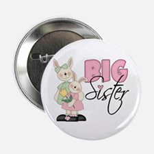 Big Sister Two Bunnies Button
