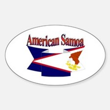 American Samoa flag ribbon Oval Decal