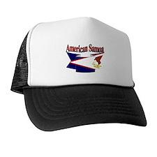 American Samoa flag ribbon Trucker Hat