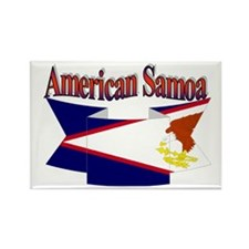 American Samoa flag ribbon Rectangle Magnet