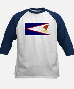 Samoan flag Kids Baseball Jersey