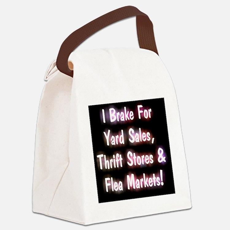 I Brake For Yard Sales, Thrift St Canvas Lunch Bag