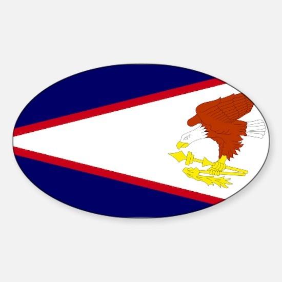 Samoan flag Oval Decal