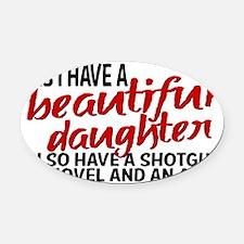 daughteralibi Oval Car Magnet