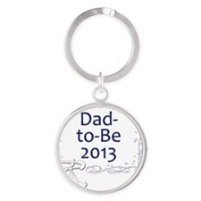 Dad-to-Be-2013-Shirt-Swirls Round Keychain