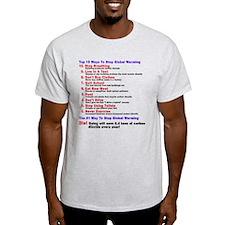 Top 10 Ways Stop Global Warming T-Shirt
