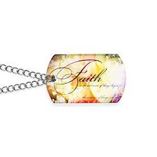 faith is flowers Dog Tags