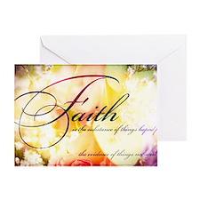faith is flowers Greeting Card