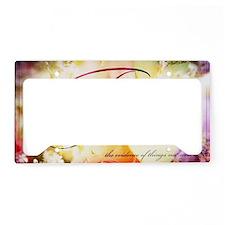 faith is flowers License Plate Holder