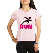 Run Pink Performance Dry T-Shirt