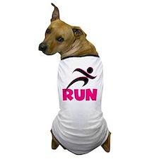 Run Pink Dog T-Shirt