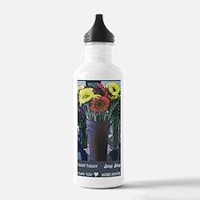 hhjj journal flowers Water Bottle